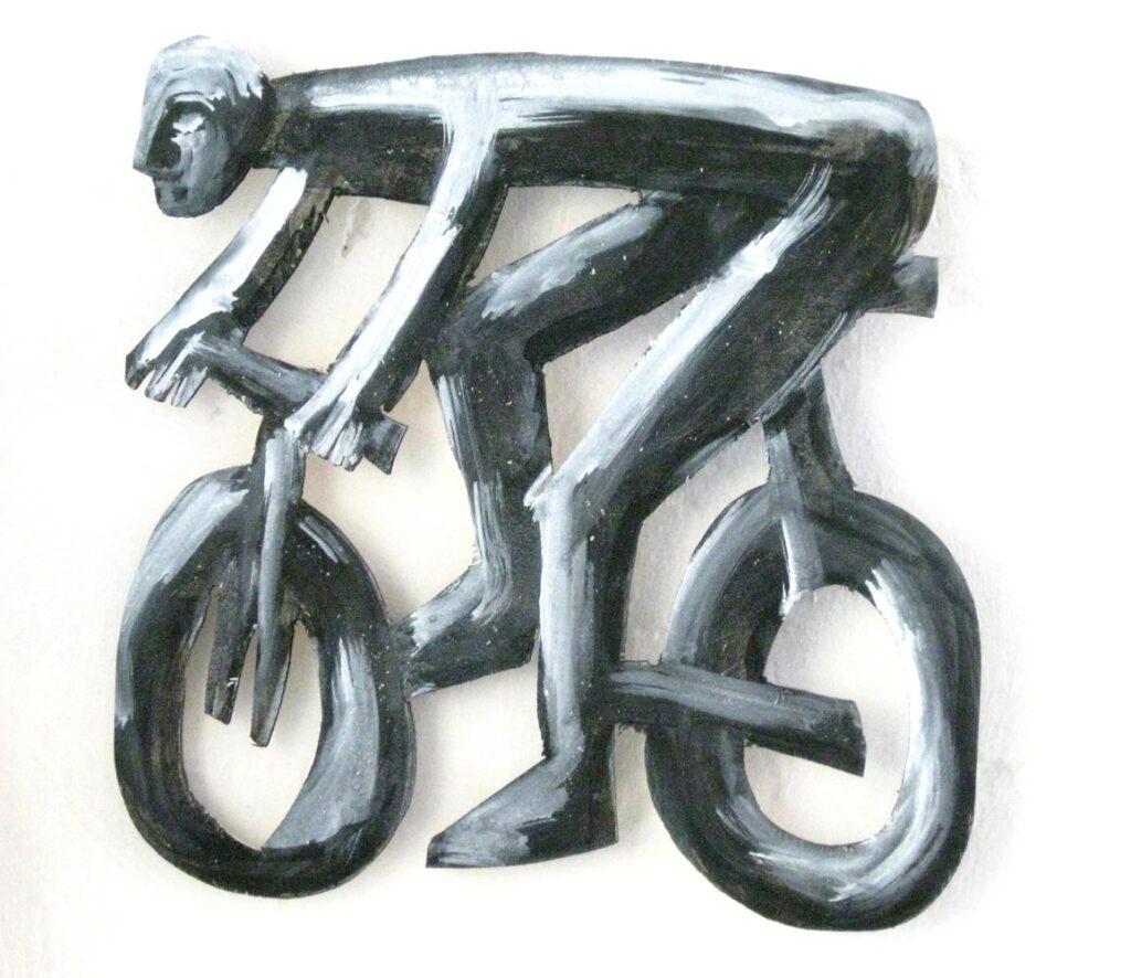 Kunst kaufen Duesseldorf - Radfahrer