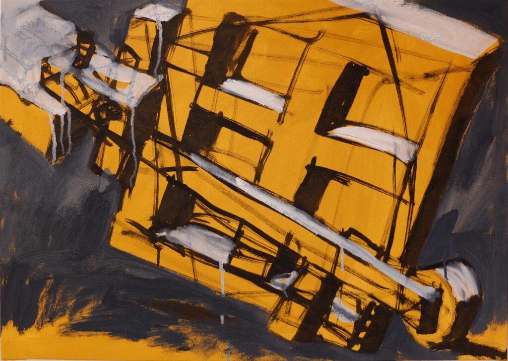 Kunst kaufen Duesseldorf Bild gelb