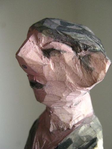 holzskulptur kopf nase gesicht kunst düsseldorf